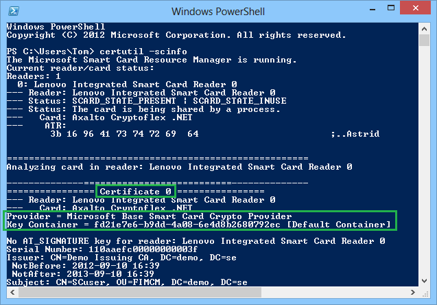 Delete certificates on smart cards | Microsoft Security