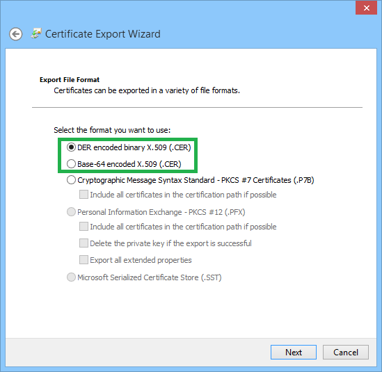 format of a certificate