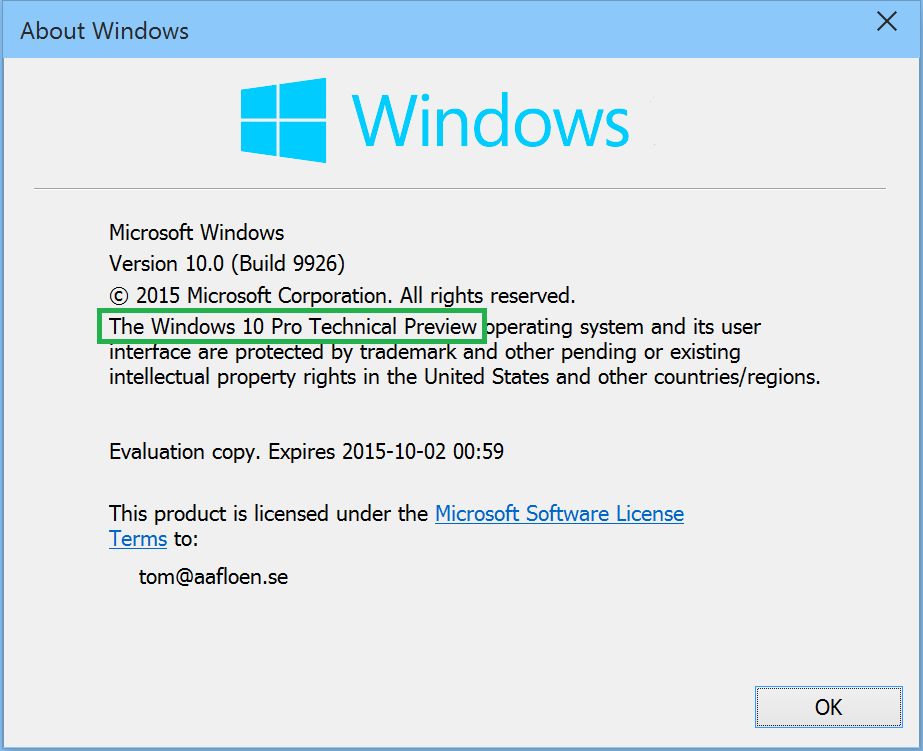 Activate windows 10 technical preview microsoft security solutions to start activation press win r type sluiexe 3 and press enter ccuart Choice Image