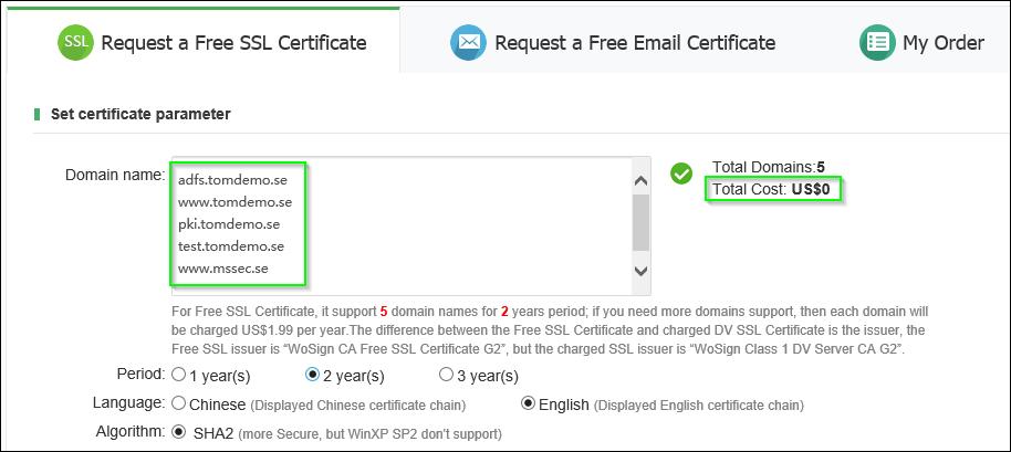 make a certificate free