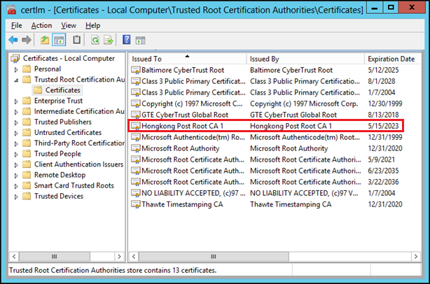Which Root CAs do you really trust? | Microsoft Security Solutions