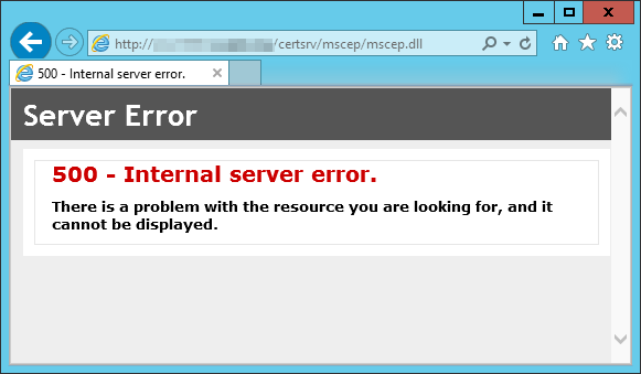 Certificate related problems when using a web proxy server