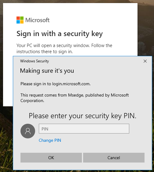 Enable FIDO2 credential manager in Windows 10